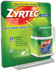 Zyrtec Allergy 10 mg Tablets - 30 TAB