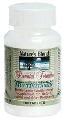 Nature's Blend Prenatal Formula Tablets - 100 TAB