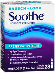 Bausch + Lomb Soothe Lubricant Eye Drops Single-Use Dispensers 28 Pack - 28 EA