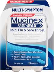 Mucinex Fast-Max Cold, Flu & Sore Throat Caplets - 20 CAP