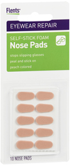 Flents Nose Pads Self-Stick Foam Pads Peach - 10 EA