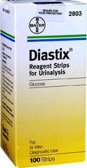 Diastix Reagent Strips - 100 EA