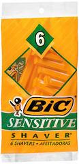 Bic Shavers Sensitive - 6 EA