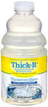 Thick-It AquaCareH2O Beverage Thickened Water Nectar Consistency - 46 OZ