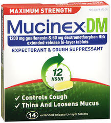 Mucinex DM Expectorant & Cough Suppressant Extended-Release Tablets Cough & Chest Congestion - 14 TAB