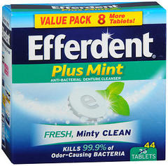 Efferdent Plus Denture Cleanser Tablets Minty Fresh - 36 TAB
