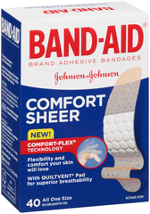 BAND-AID Sheer Strips Adhesive Bandages All One Size - 40 EA