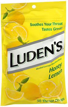 Luden's Throat Drops Honey Lemon - 30 EA
