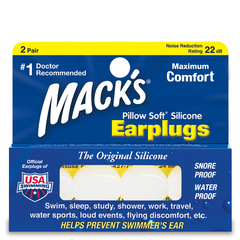 Mack's Pillow Soft Silicone Putty Earplugs - 2 Pair