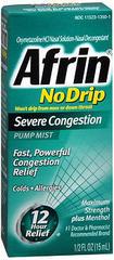 Afrin No Drip Pump Mist Severe Congestion - 0.5 OZ
