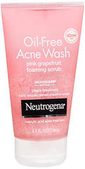 Neutrogena Oil-Free Acne Wash Pink Grapefruit Foaming Scrub - 4.2 OZ