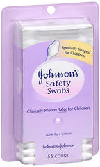 JOHNSON'S Safety Swabs - 55 EA