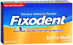 Fixodent Denture Adhesive Powder Extra Hold - 2.7 OZ