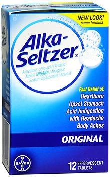 Alka-Seltzer Effervescent Tablets Original - 12 TAB