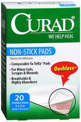 Curad Non-Stick Pads - 20 EA