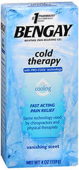 BENGAY Cold Therapy Menthol Pain Relieving Gel - 4 OZ