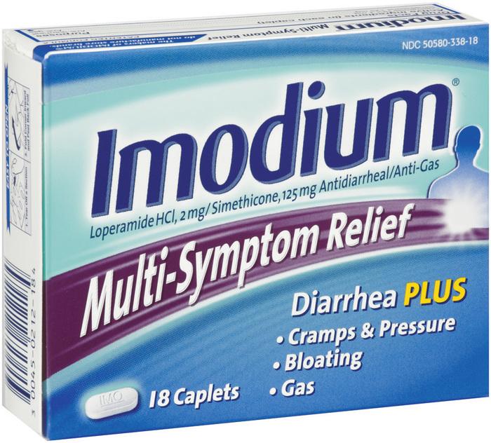 Imodium Multi-Symptom Relief Caplets - 18 TAB