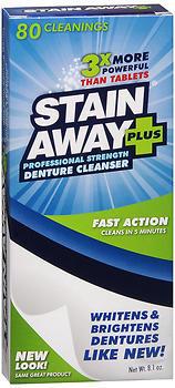 Stain Away Plus Denture Cleanser - 8.1 OZ