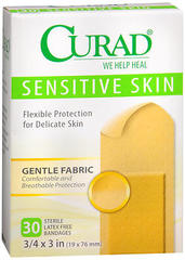 Curad Sensitive Skin Bandages - 30 EA