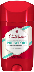 Old Spice High Endurance Deodorant Long Lasting Stick Pure Sport - 2.25 OZ