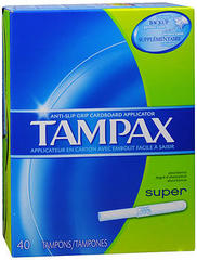 Tampax Tampons Super Absorbency - 40 EA