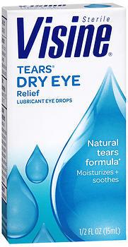 Visine Tears Dry Eye Relief Lubricant Eye Drops - 0.5 OZ