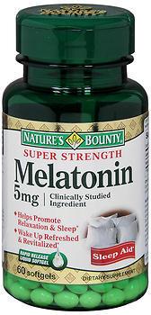Nature's Bounty Melatonin 5 mg Softgels - 60 TAB