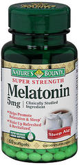 Nature's Bounty Melatonin 5 mg Softgels - 60 TAB