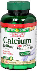 Nature's Bounty Calcium 1200 mg Plus Vitamin D3 1000 IU Softgels - 100 CAP