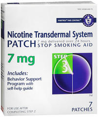 Novartis NicotineTransdermal System Patche 7mg Step 3 - 7 EA