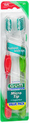 GUM Micro Tip Toothbrushes Soft/Compact - 2 EA