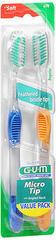 GUM Micro Tip Toothbrushes Soft/Regular - 2 EA