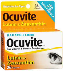 Bausch + Lomb Ocuvite Lutein & Zeaxanthin Capsules - 36 CAP