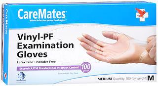 CareMates Vinyl-PF Examination Gloves Medium