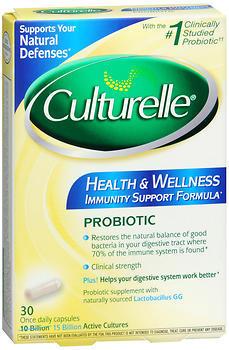 Culturelle Health & Wellness Probiotic Capsules - 30 CAP