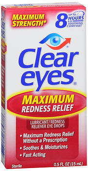Clear Eyes Maximum Redness Relief Eye Drops - 0.5 OZ