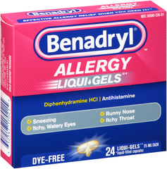 Benadryl Allergy Liqui-Gels Dye Free - 24 CAP