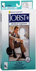 JOBST Medical LegWear For Men Knee High 20-30 mmHg Black X-Large Close-Toe - 1 EA