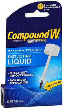 Compound W Wart Remover Fast-Acting Liquid - 0.31 OZ