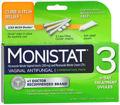 MONISTAT 3 Vaginal Antifungal Combination Pack - 3 EA