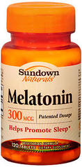 Sundown Naturals Melatonin 300 mcg Tablets - 120 TAB