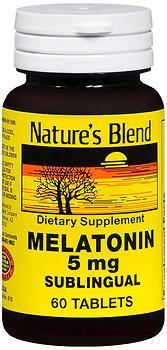 Nature's Blend Melatonin 5 mg Tablets - 60 TAB