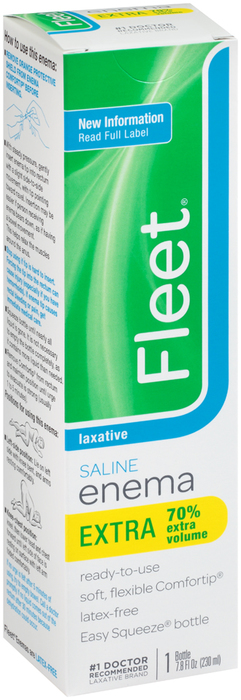 Fleet Saline Enema Laxative Extra - 7.8 OZ