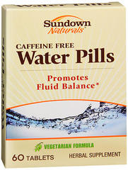 Sundown Naturals Caffeine Free Water Pills Tablets - 60 TAB