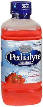 Pedialyte Oral Electrolyte Maintenance Solution Strawberry Flavor - 33.8 OZ