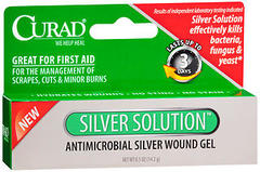 Curad Silver Solution Antimicrobial Silver Wound Gel - 0.5 OZ