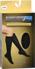 Loving Comfort Support Knee High Socks Mild Compression Large Black - 1 EA