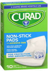 Curad Non-Stick Pads With Adhesive Tabs 2 x 3 in - 10 EA