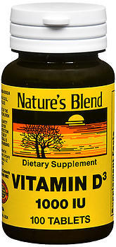 Nature's Blend Vitamin D3 1000 IU Tablets - 100 TAB