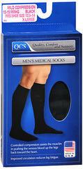 QCS Men's Medical Socks Mild Black Small/Medium - 1 EA